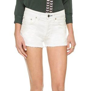 Free People Uptown Cut Off White Button Fly